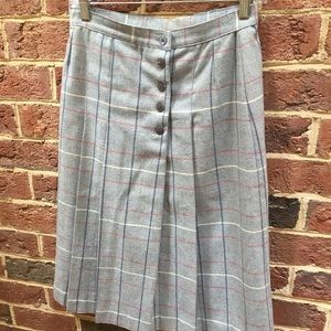 Vintage Plaid Wool Pencil Skirt